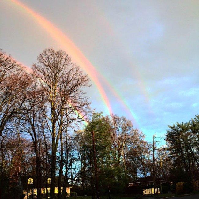 Четырехместная радуга (фото дня)