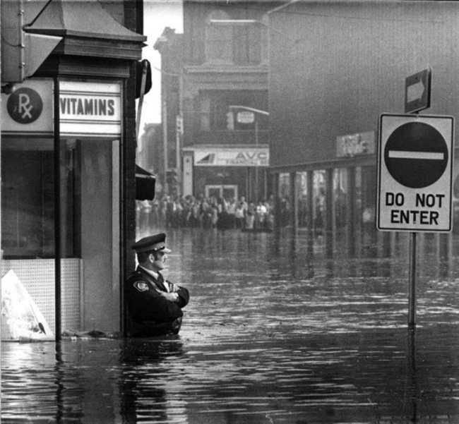 Наводнение в Канаде в 1974 году (фото дня)