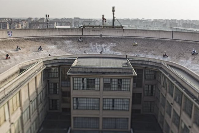 Тестовый трек на крыше завода FIAT