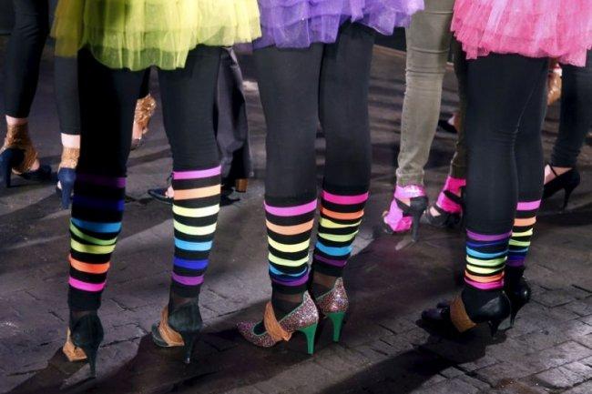 Гонка на высоких каблуках в Париже (13 фото)