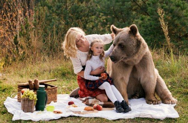 Фотосессия с медведем от Ольги Баранцевой (16 фото)