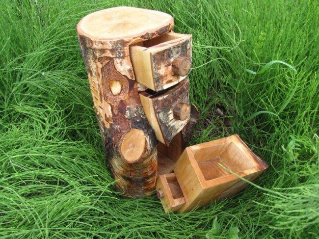 Шкафы из стволов деревьев от Байкова Дарека (17 фото)