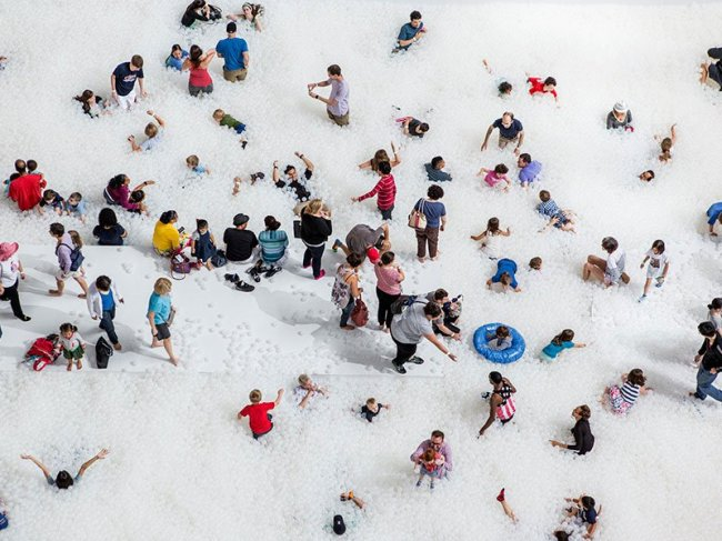 Искусственный пляж в Национальном музее строительства (12 фото)