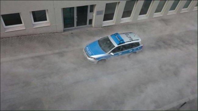 Белый «туман»  в Майнце (6 фото)