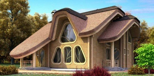 Необычные здания из блок-хауса (7 фото)