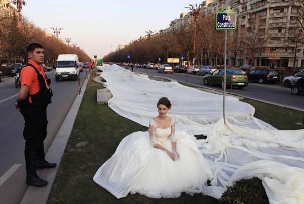 Самое необычное свадебное платьев мире