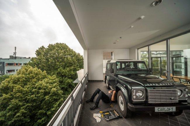 Балкон - гараж для истинных ценителей