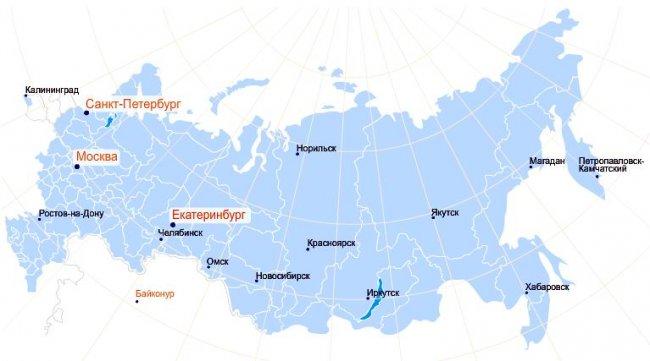 Где находиться екатеринбург на карте