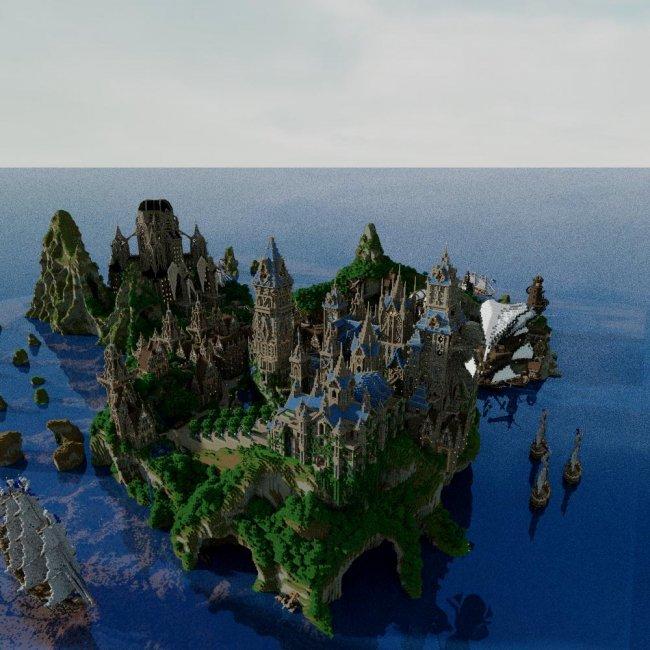 Уникальные здания в Майнкрафте (7 фото)