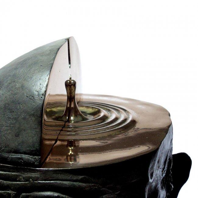 Удивительные скульптуры из бронзы и камня от Ромена Ланглуа (8 фото)