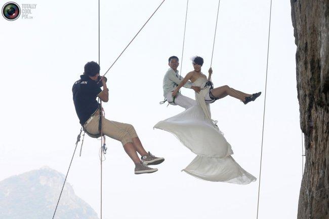 Самые безумные свадьбы или вдохновение для смелых (7 фото)