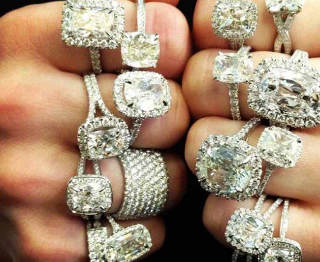 Бриллианты с белым золотом