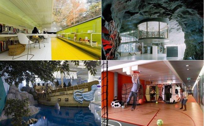 7 необычных офисов мира (14 фото)