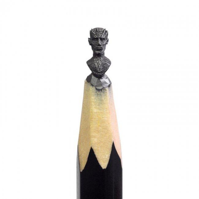 """Скульптуры из карандашей по мотивам """"Игры престолов"""""""