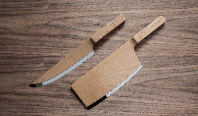 Супер удобные кухонные ножи из дерева