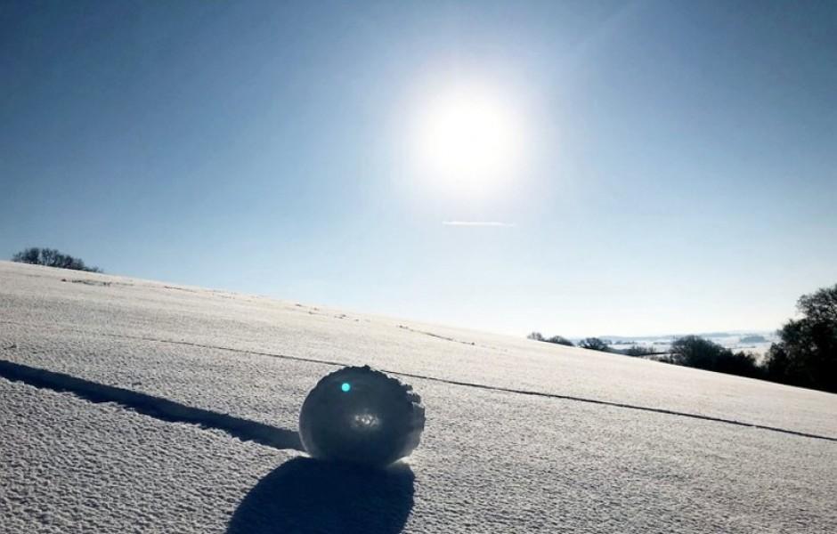 Снежные рулоны в Англии