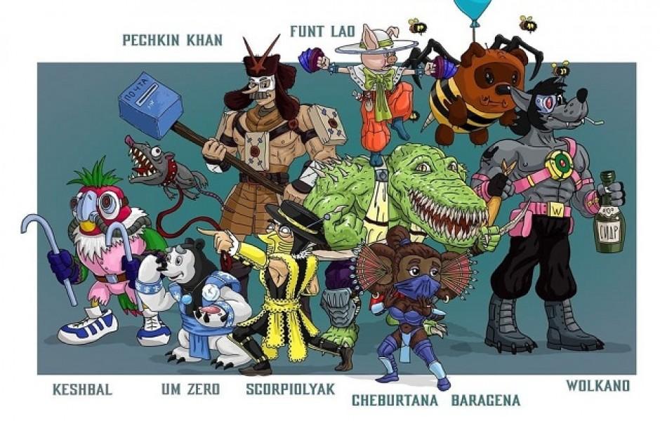 Российский художник соединил советских персонажей с героями Mortal Kombat (10 фото)