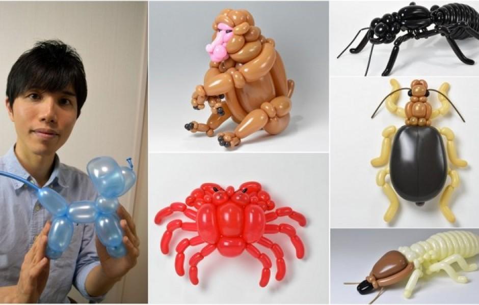 Восхитительные фигурки из воздушных шаров (29 фото)