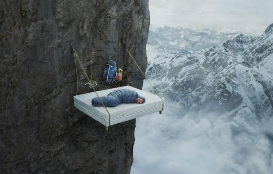 Как скалолазы спят (23 фото)