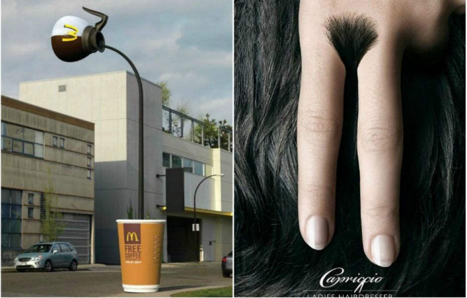 Самые необычные варианты рекламы (35 фото)
