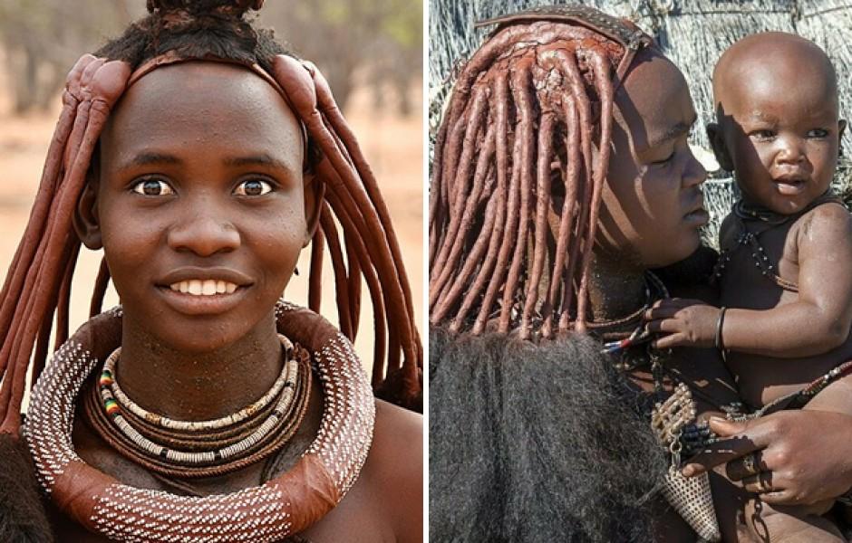 Необычные прически девушек из племени Химба (6 фото)