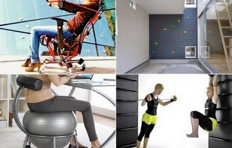 Необычные приспособления для занятия фитнесом