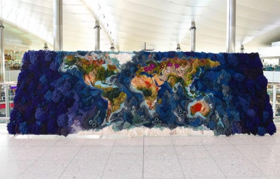 6-метровый ботанический гобилен карты мира (10 фото)