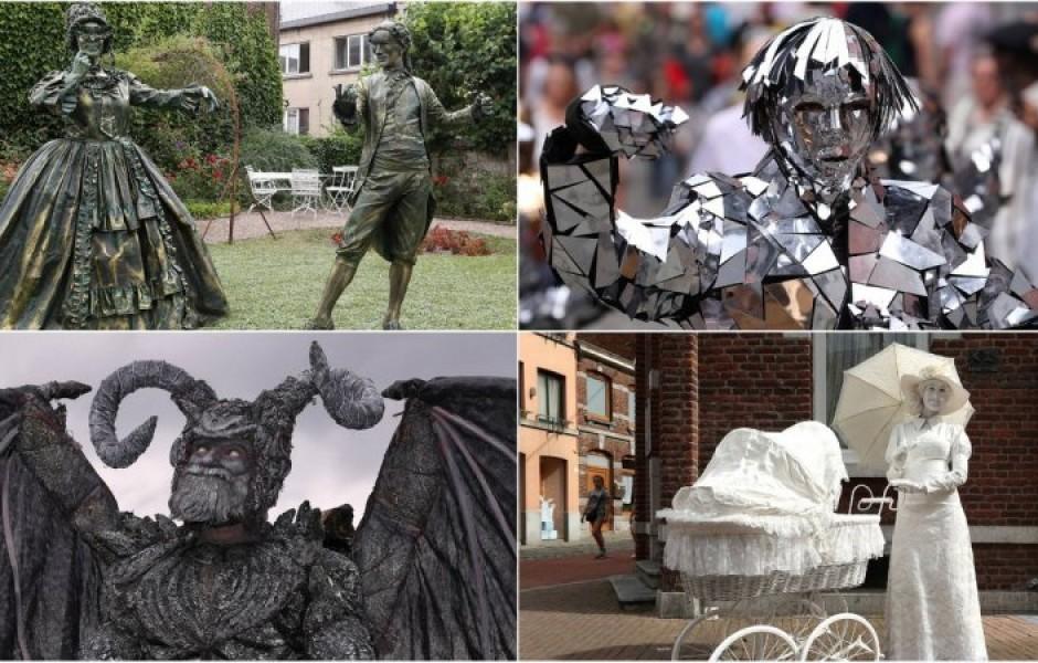 Живые статуи в Бельгии (33 фото)