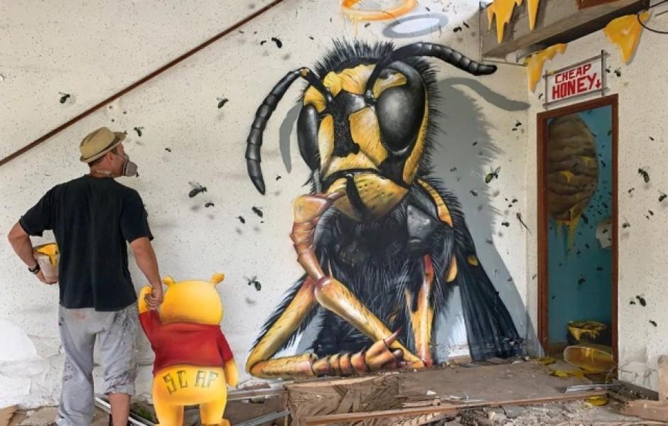 Прикольное граффити от французского мастера (20 фото)