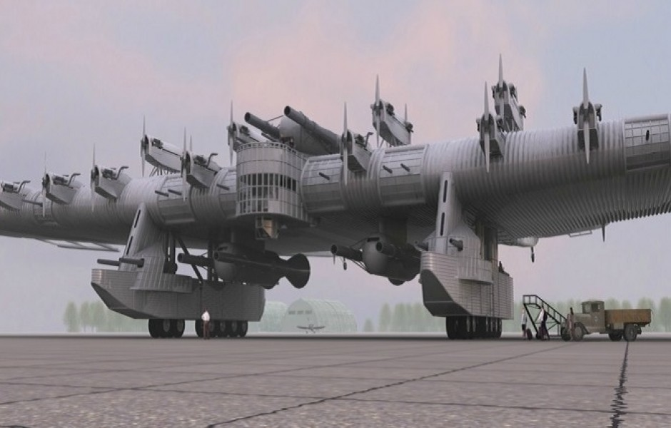 Многообещающий проект СССР «летающая крепость»