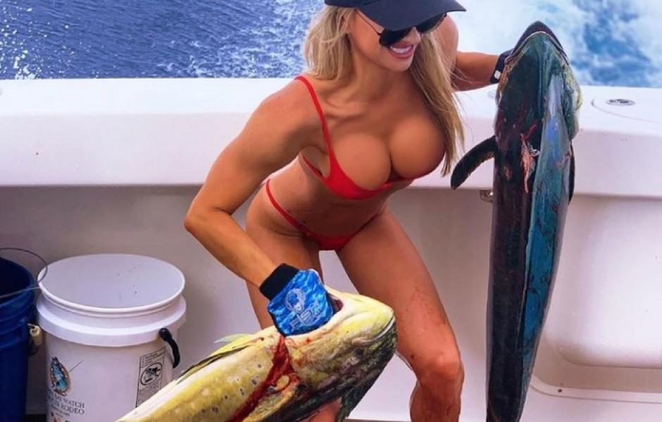 Сексуальная рыбачка из Майами (20 фото)