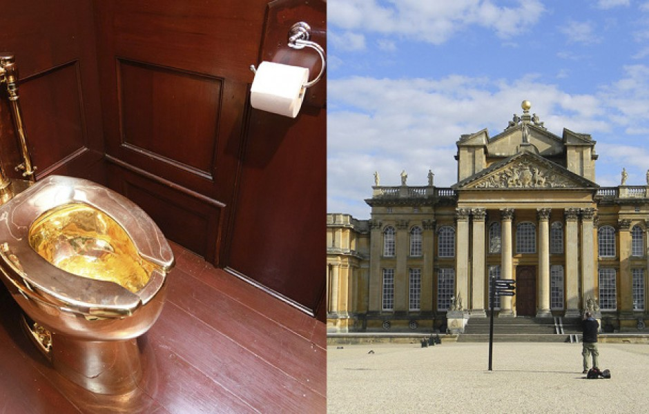 В британском дворце украли золотой унитаз Маурицио Каттелана
