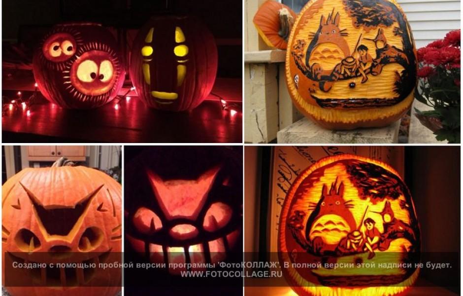Тыквы на Хэллоуин в виде известных персонажей