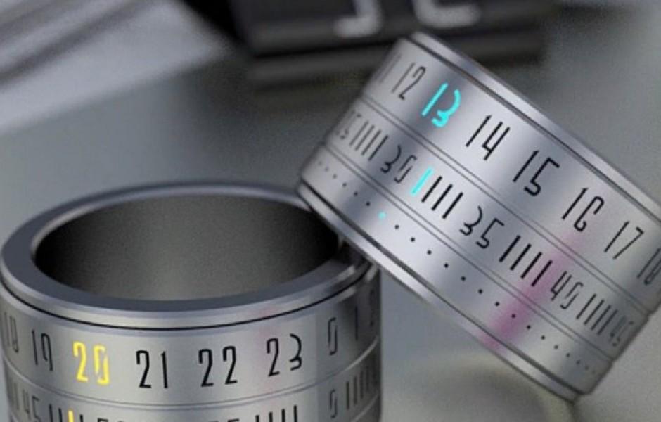 Удивительное кольцо-часы