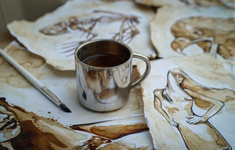 Картины солдата из растворимого кофе