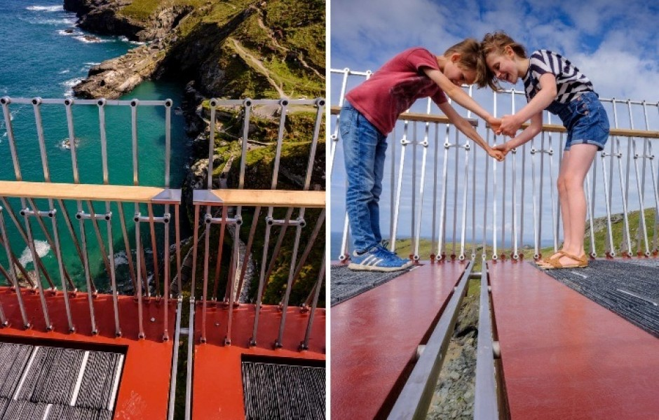Зачем в Англии построили пешеходный мост над глубокой пропастью без опор и с ...просветом посередине Источник: https://novate.ru/blogs/230819/51437/