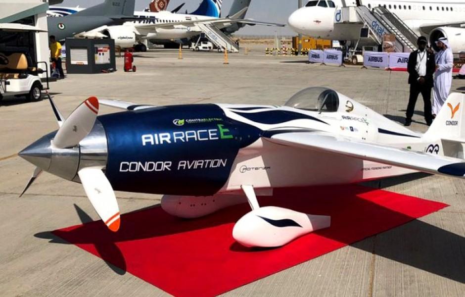 На авиасалоне в ОАЭ представили электрический гоночный самолет