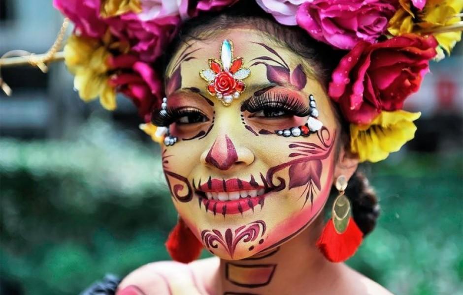 Парад в Мексике, приуроченный ко Дню Мёртвых (14 фото)