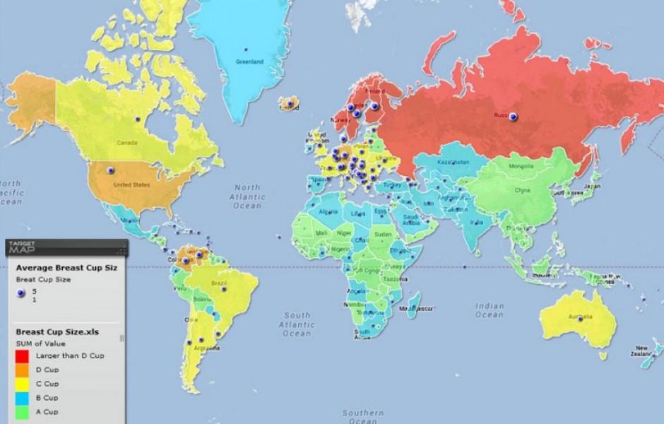 31 карта мира с интересной информацией