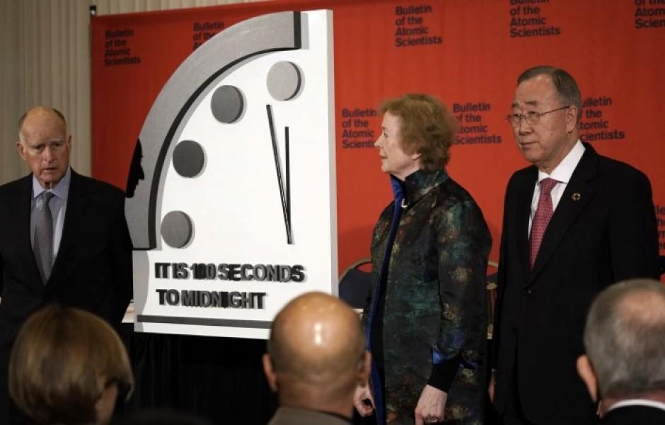 На часах Судного дня оставили сто секунд до «ядерной полуночи»