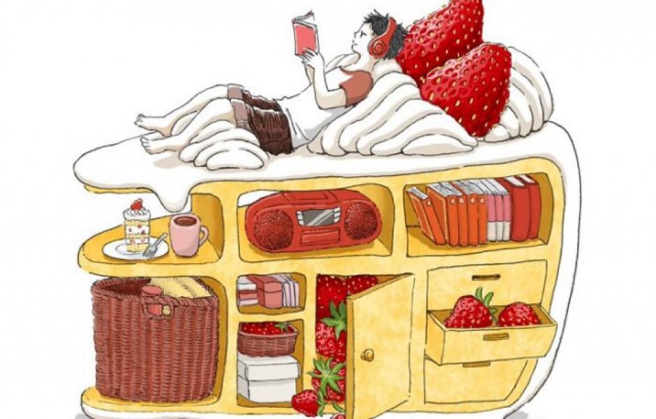 Необычные кулинарные иллюстрации Маруи Мити (18 фото)