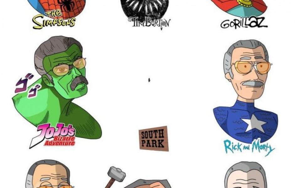 Хорватский художник изобразил знаменитостей и персонажей в различных мультяшных стилях (14 фото)