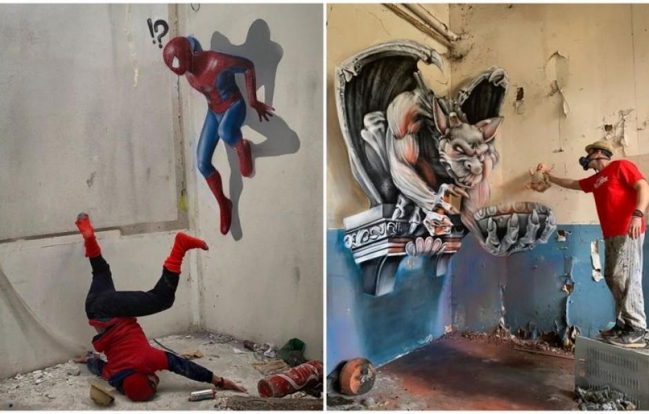 Потрясающий 3D стрит-арт от французского художника - 20 фото