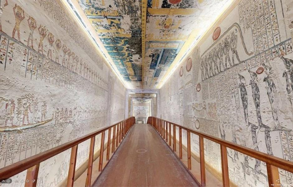 Теперь можно совершить 3D-виртуальный тур по гробнице Рамсеса VI (9 фото)