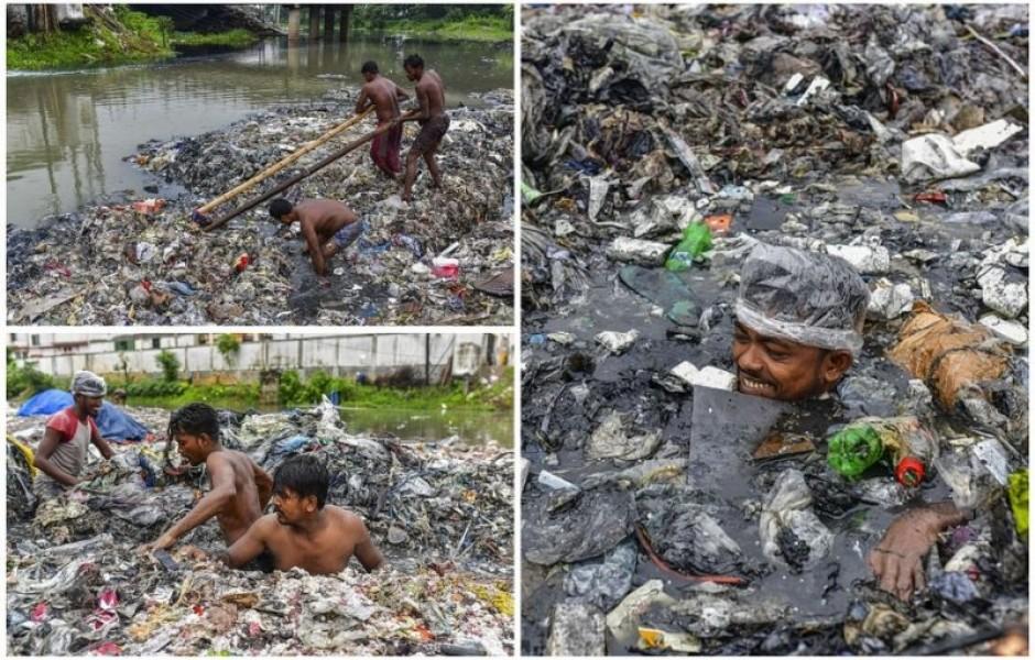 Грязная работенка: чистильщики каналов в Бангладеш