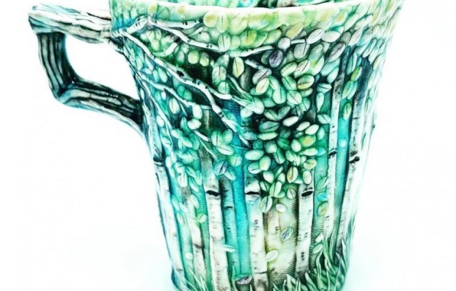 Многослойная керамическая посуда, вдохновлённая природой