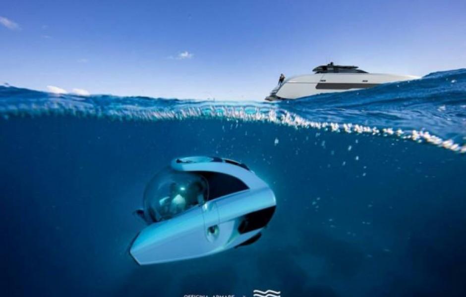 Суперъяхта со своей собственной подводной лодкой (14 фото)