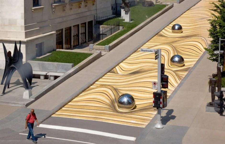 Крупномасштабный уличный рисунок