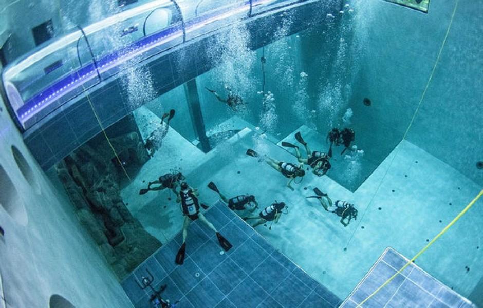 В Польше открыли самый глубокий бассейн в мире