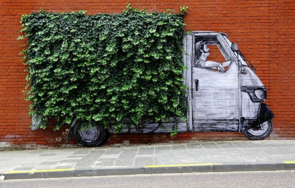 Уличное искусство художника Levalet (30 фото)